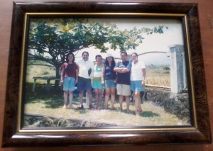 from eldest to youngest (fatima jocelyn, jose yul, jovy, cristy, joseph and me) in our displayed framed photo in our sala