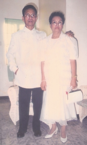 papa and mama during my wedding, 30 december 1997