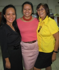 with the french teacher and my program coordinator