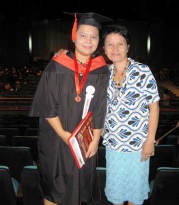 daughter and mother at PICC, 21 march 2010