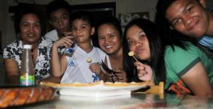 enjoying squid balls with tintin last december 30