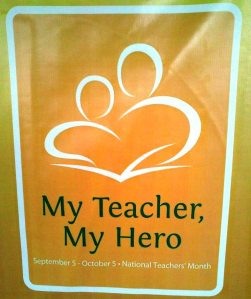 the world teachers' day logo