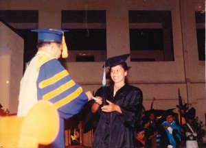 soc receiving her diploma
