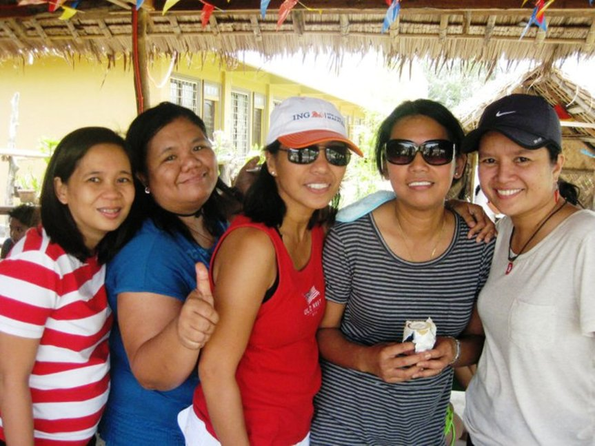 malu, ging, elvie, ruth and i
