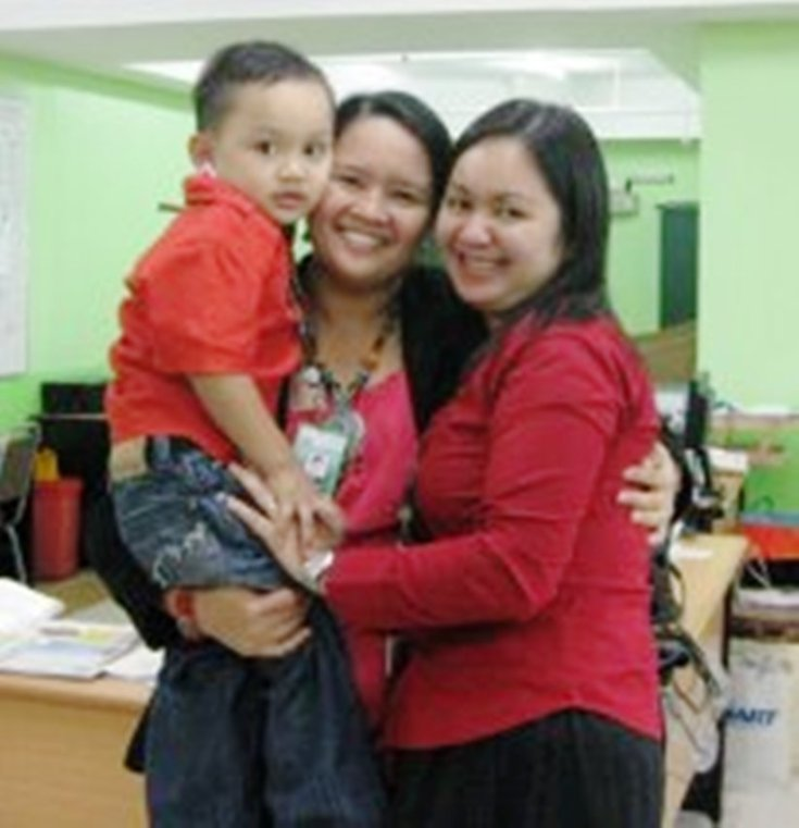 with tin and her son pong (ahmed rrushdee)
