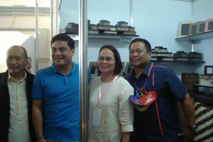 dadz with two UNA senatorial candidates, miguel zubiri and jv ejercito