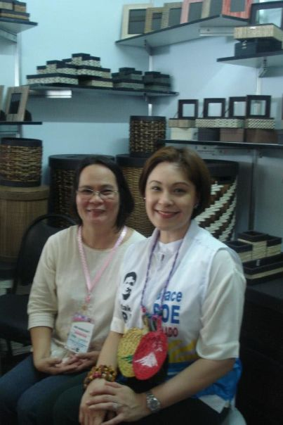 dadz with sheryl cruz during the magayon festival at the oriental hotel