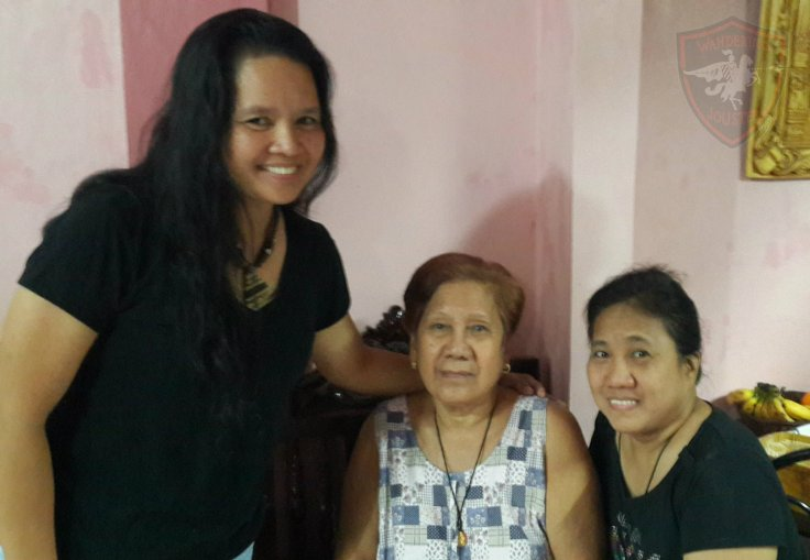 With Nanay, my wedding godmother, and Beng, my very late confirmation godmother