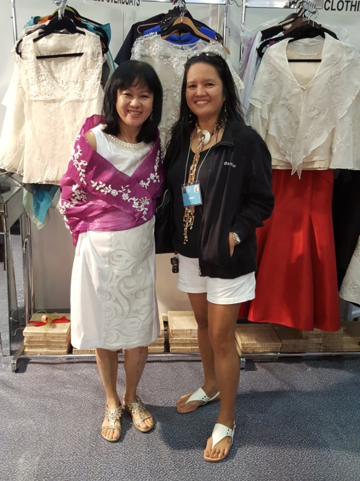 With Babes Lim, the very amiable designer of our Philippine National attire