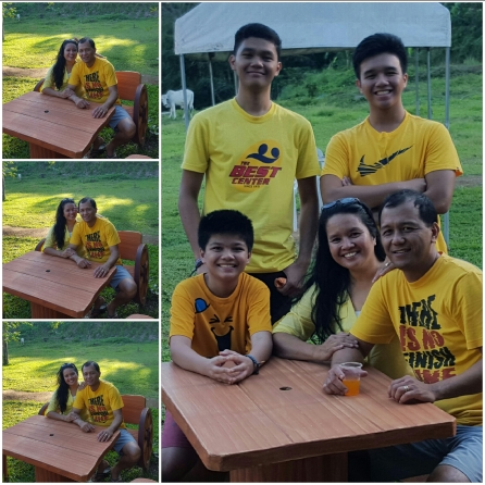 Our recent family picture, taken on our 17th wedding anniversary on December 30, 2015