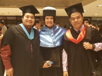 With my Deparment Chair, Engr.Dexter Umil and Prof. Aviles
